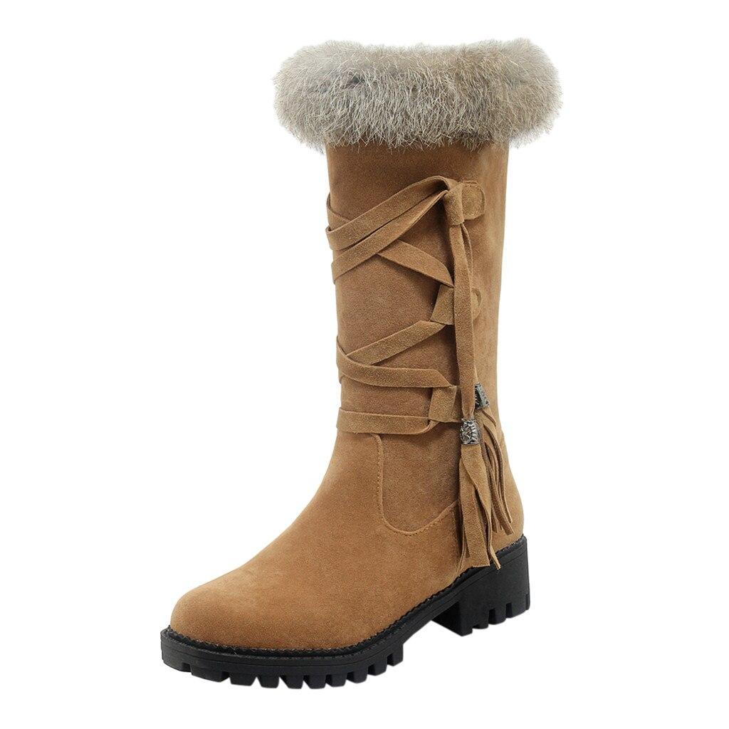 Suede Plus velvet Winter Boots Women Knee High Long Boots Fashion short plush Snow Boots Women Winter Warm Platform woman shoes 53