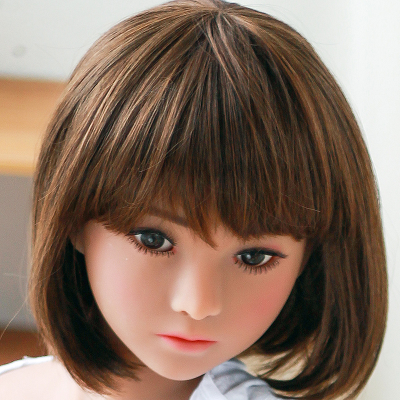 Tpe <font><b>sex</b></font> <font><b>doll</b></font> real Head Oral <font><b>Sex</b></font> Love <font><b>doll</b></font> Lovely Face With Bobs Wig <font><b>sex</b></font> tpe <font><b>doll</b></font> for <font><b>136cm</b></font> to 176cm Adult Size Body image