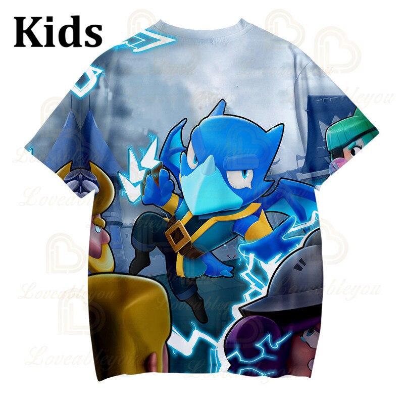 Cute Crow Shoot Gameing Game 3D Print T-shirt Men Clothing Harajuku T Shirt Women Kids Star Leon Tops 2020 Shirt Boys Girls  - buy with discount