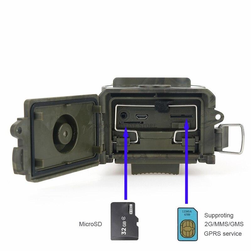 Skatolly HC300M cámara de caza GSM 12MP 1080P foto trampas visión nocturna vida silvestre infrarrojo caza Trail cámaras caza Chasse scout - 4