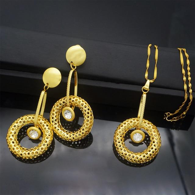 Jewelry Sets For Women Necklace Earrings Pendant Big Round Jewelry Sets For Wedding Jewelry Gifts Fashion & Designs Fine Jewellery Jewellery & Watches Women's Fashion