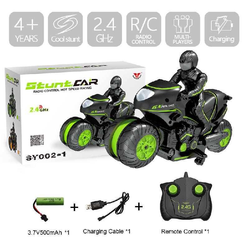 Children Motorcycle Electric Remote Control Drift High Speed Car Mini 2.4G Racing Rotating Kids Rc Stunt Motorbike Toy Boy Gift