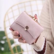 Band Fashion Women wallet small three fold PU leather coin fresh multi-function women purse female