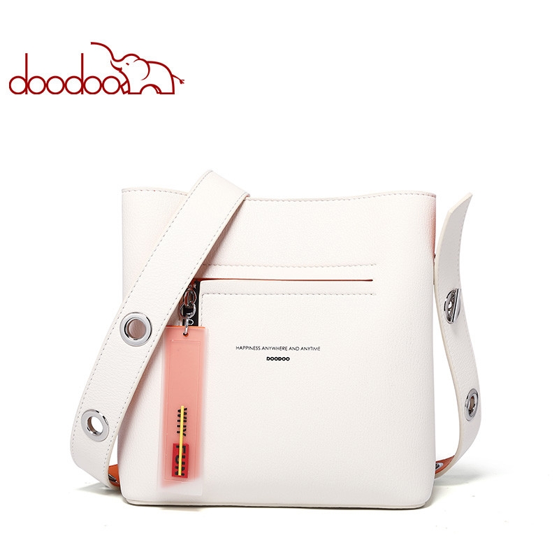 DOODOO Bag Female 2020 New Spring And Summer Bucket Bag Punk Style Crossbody Shoulder Bag Ladies Fashion Party Gift Crossbody