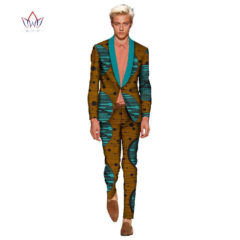 Мужской Блейзер, костюмы, комплект, африканская одежда для мужчин, льняные костюмы для мужчин, 2 предмета, пиджак, брюки, приталенный, Повседневный, смокинг, костюм для мужчин WYN115