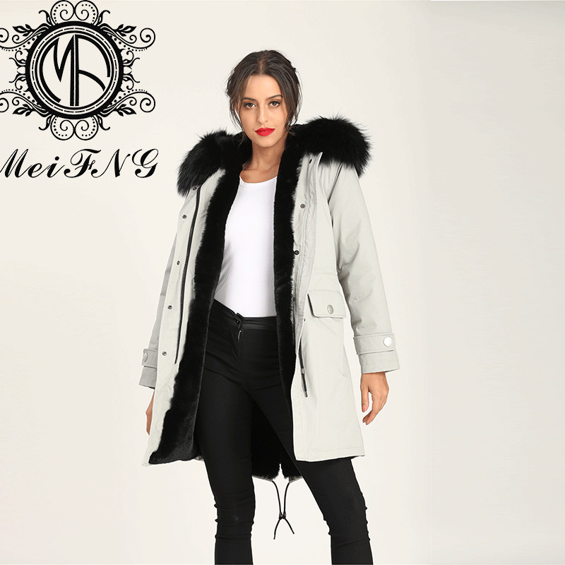 Newest Grey Long Coat Winter Women Trench Coat Online Clothing Stores Hot Sale Design