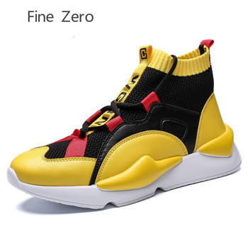 Plus Size 39-45 Krasovki Men's high top skateborading Shoes Male Shoes Sneakers Lightweight Breathable Shoes Tenis Masculino image
