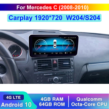 Qualcomm 10.25 Android 10 Car Upgrade Head Up Screen Autoradio Stereo Display For Mercedes Benz GLC C Class 2008 2018 Wifi W205