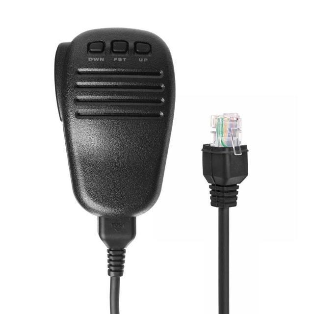 Microfone portátil alto falante onda curta para yaesu ft 817 ft 857 ft897 ft 450 ft 891 FT 817ND walkie talkie rádio mic