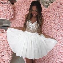Короткое платье на тонких бретельках smileven 2020 юбка с обнаженным