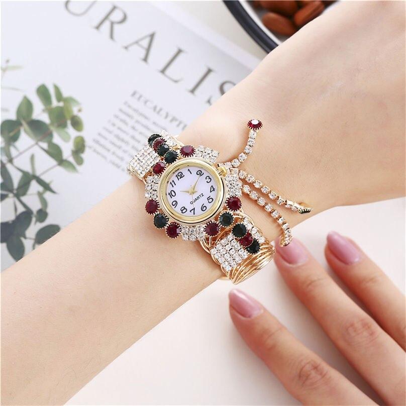 Khorasan Luxury Alloy Fashion Casual Women Watch Creative Fringe Quartz Bracelet Watches 3D13 (8)