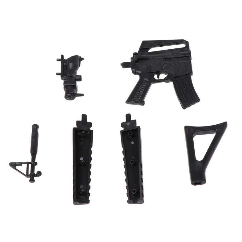 Mini Maschinenpistole Waffe Pistolen Kapsel Spielzeug DIY Montieren Sets Modell Sammlung Geschenk