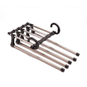 New 5 in 1 Stainless Steel Multifunction Retractable Pants Rack Trouser Hanger