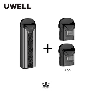 Image 5 - UWELL כתר Pod מערכת 1 חבילה 3ml קיבולת 0.6/1.0 אוהם כתר Refillable Pod דואר סיגריה אדי Pod Vape