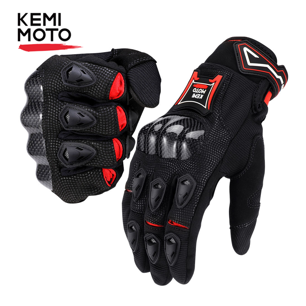 Kemimoto Motorcycle-Gloves Guantes Touch-Screen Protective Cycling Motorbike Corbon-Fiber