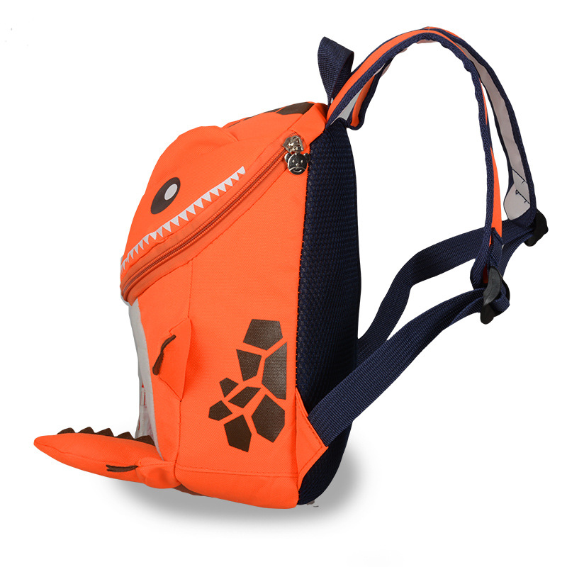Canvas Dinosaur Cute CHILDREN'S School Bags 2019 Trend New Style Fashion Contrast Color Personalized & Creative Schoolbag