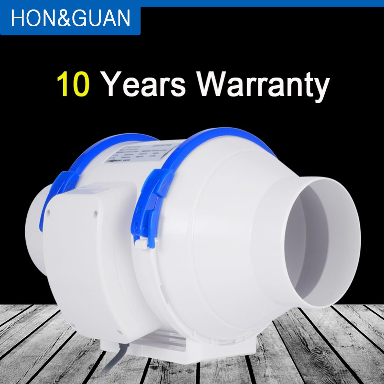 Hon & Guan 4 ''~ 8'' ventilateur de conduit en ligne silencieux à la maison avec ventilateur d'extraction de système de Ventilation fort pour la salle de bains de cuisine; 111 CFM ~ 470 CFM