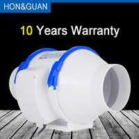 Hon&Guan 4 ''8 8'' Home Silent Inline Duct ventilador con fuerte sistema de ventilación Extractor ventilador para cocina baño; 111 CFM 470 CFM