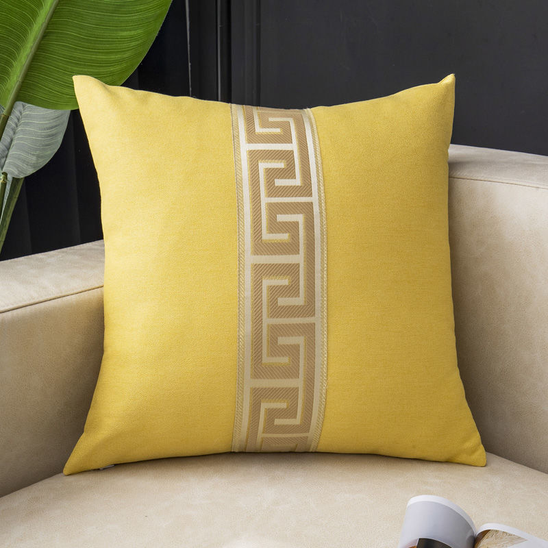 Fyjafon Pillowcase 60x60 Linen Breathable Cushion Cover Decorative edge Pillow Case Blue Yellow Pillowcases 50x50/40*60 image