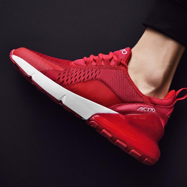 남자 스포츠 신발 공기 브랜드 캐주얼 신발 270 통기성 Zapatillas Hombre Deportiva 고품질 커플 신발 트레이너 스 니 커 즈