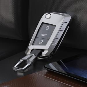 Image 4 - Yeni alaşım anahtar kapağı kılıfı Volkswagen VW TIGUAN Golf Skoda Octavia için araba kılıflı anahtar koruma aksesuarları