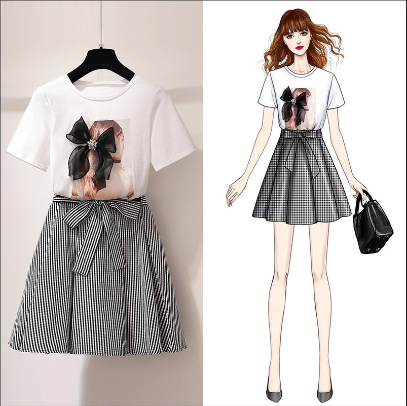 2019 Spring Clothing New Style Very Fairy Of Royal Sister Online Celebrity French Hepburn Set Western Style Playful Two-Piece Se