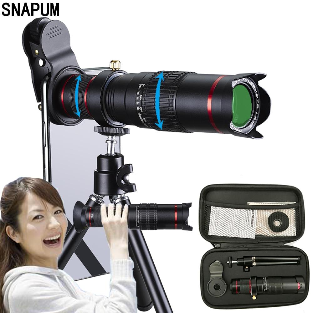 SNAPUM téléphone portable téléphone portable HD 4K 22x caméra Zoom télescope optique téléobjectif pour Samsung iphone huawei xiaomi