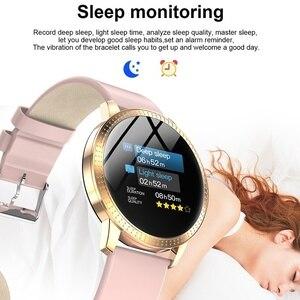 Image 3 - Chống Thấm Nước Đồng Hồ Thông Minh Smart Watch Nữ Đáng Yêu Vòng Đeo Tay Đo Nhịp Tim Theo Dõi Giấc Ngủ Đồng Hồ Thông Minh Smartwatch Kết Nối IOS Android Dây Đeo Tay