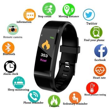 Health Bracelet 115Plus Heart Rate Blood Pressure Smart Band Fitness Tracker Smartband Bluetooth Wristband Smart Watch Woman Men