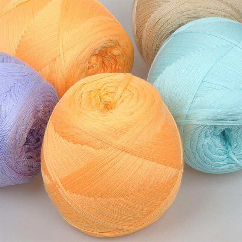 3pcs Mercerized Cotton Wool Hand-woven Scarf Line Diy Milk Cotton Multi-strand Pure Cotton Yarn Baby Wool 200g Yarn for Knitting