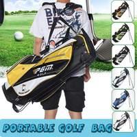 Men/Women Lightweight Golf Stand Bag Portable Waterproof Design Shoulder Strap 14 Pocket with Wheel Design Sport Supplies