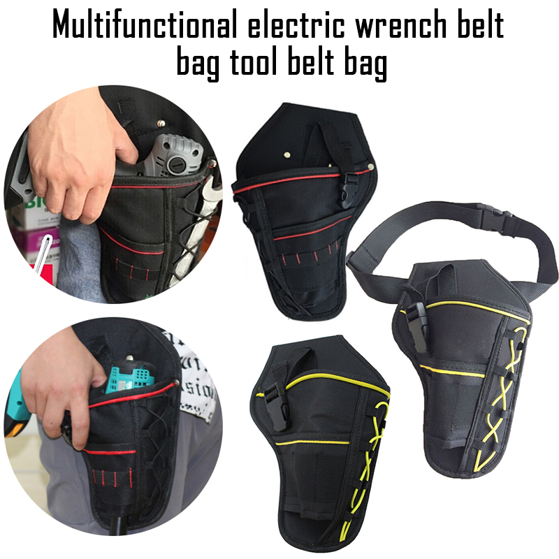 Multifunctional Drill  Waist Tool Bag Waterproof Electric Waist Belt Tool Pouch Bag Wrench Hammer Screwdriver Tool Pouch