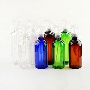 Image 3 - Rastgele 500ML Amber PET sprey boş şişeler tetik püskürtücü uçucu yağlar aromaterapi parfüm doldurulabilir şişe seyahat için
