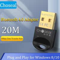 Choseal-Adaptador USB Bluetooth para PC receptor Dongle Bluetooth 4,0 para Windows 10/8.1/8/7/XP para teclado de ratón de ordenador portátil de escritorio