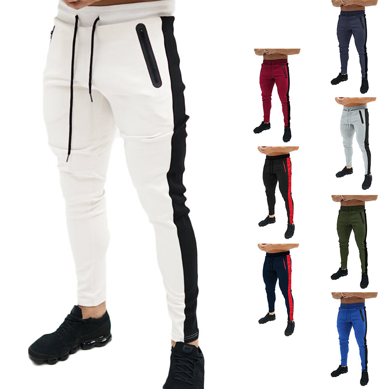 New Spring Autumn Brand Gyms Sweatpants Men's Joggers Trousers Sporting Clothing The High Quality Bodybuilding Pocket Zipper Pan
