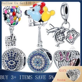 Hot Sale 100% Real 925 Sterling Silver Ariel Balloon Charm Fit Original 3mm Bracelet Making Fashion DIY Jewelry For Women 1