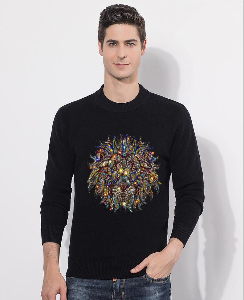 Fashion Hot Sweater Men New  Diamond Stone Pullover Winter Knitted Men's Sweater 2020 Arrive Clothes Sweater