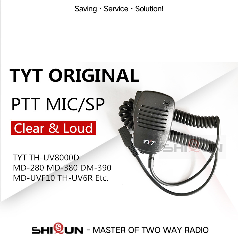 TYT Walkie Talkie Microphone Speaker MIC For Two Way Radio TH-F8 TH-UV8000D TH-UV8000E DM-UVF10 MD-380 MD-390 MD-UV390 MD-680