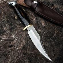 ¡Caliente! Cuchillo de hoja fija militar táctico, mango de madera de caza, alta calidad, combate, defensa personal, herramientas de Camping