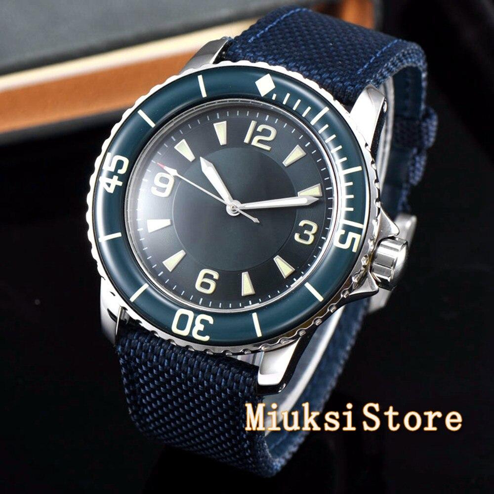 Corgeut 45mm sport design clock luxury top brand mechanical Sterile dial Luminous hands Automatic Self-Wind Vintage mens watch