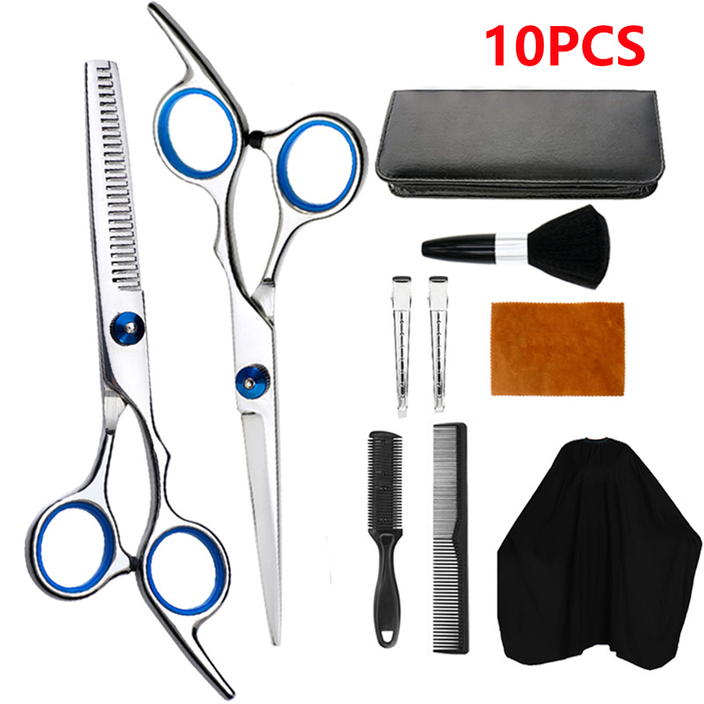 10 шт Профессиональный набор ножниц для стрижки волос уход за волосами плоские зубья лезвия ножницы парикмахерские ножницы Парикмахерские ...