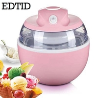 EDTID MINI DIY Automatic Fruit Ice Cream Machine Electric Soft Icecream Frozen Yogurt Sorbet Maker Milkshake Freezer EU US Plug