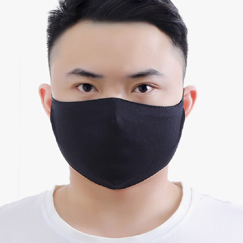 Black Mouth Mask Breathable Unisex Dust-proof Cotton Face Masks Reusable Anti Pollution Shield Wind Proof Mouth Cover Washable