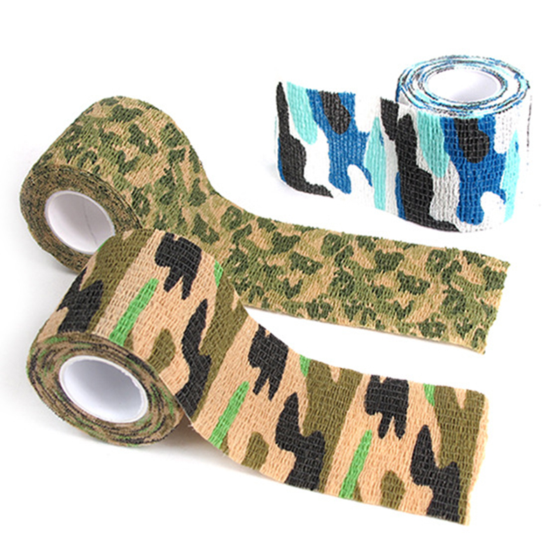 12 Colors Camouflage Tape 5cmx4.5m Army Camo Outdoor Hunting Shooting Tool Camouflage Stealth Tape Waterproof Wrap Durable #ED