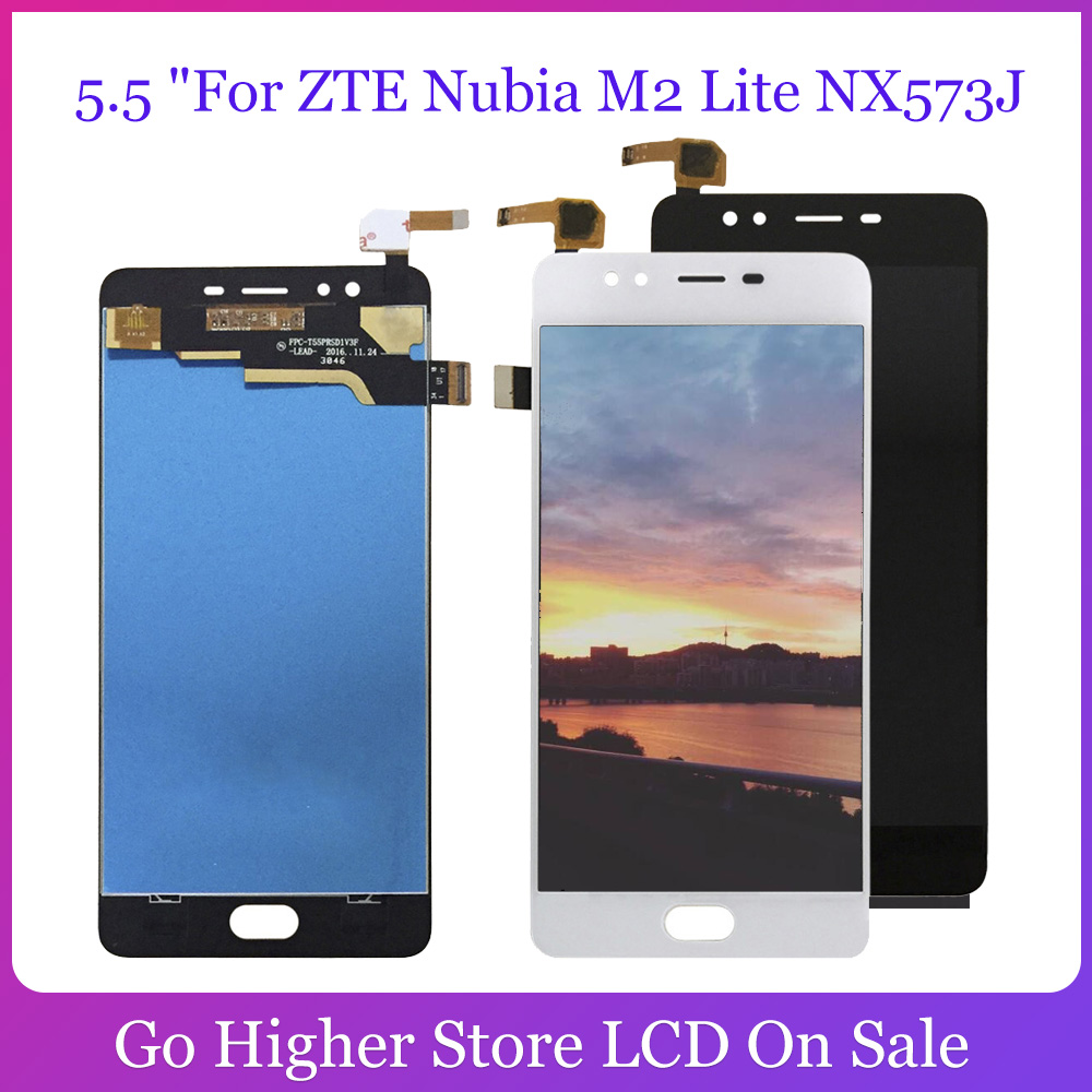 "5.5 ""NX573J LCD For ZTE Nubia M2 Lite NX573J LCD Display Touch Screen Digitizer Assembly Replacement With Frame(China)"
