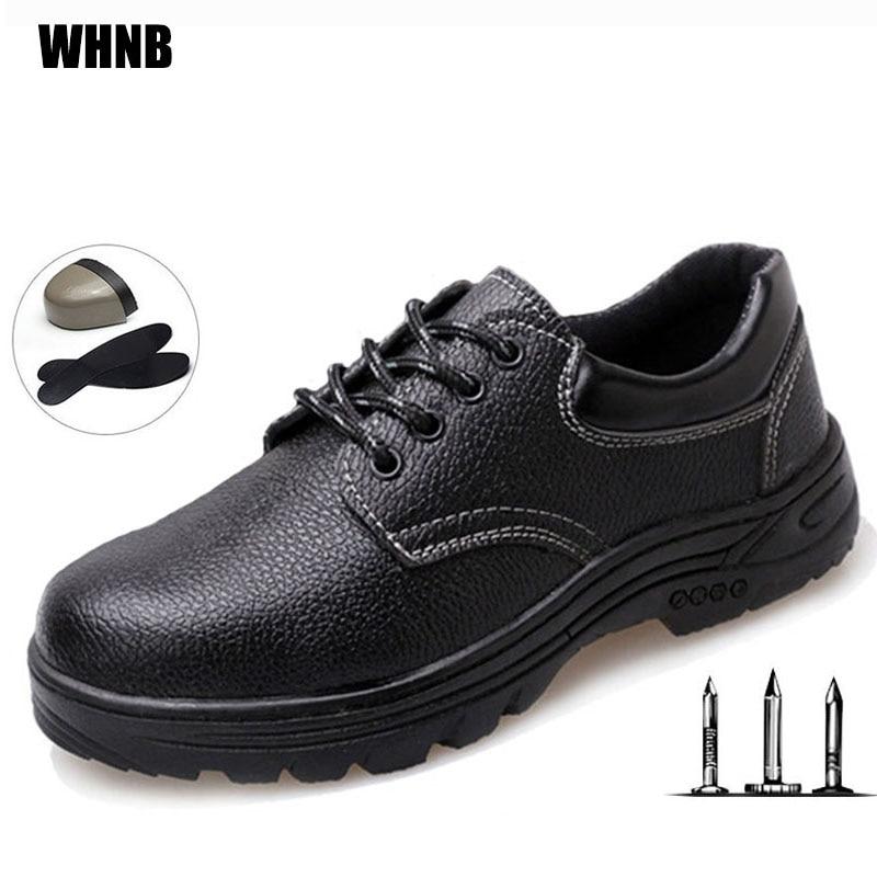 Men Labor Insurance Shoes Microfiber Leather Breathable Oil Acid Resistant Work Boots Collision Spurs Anti-scalding Safety Shoes
