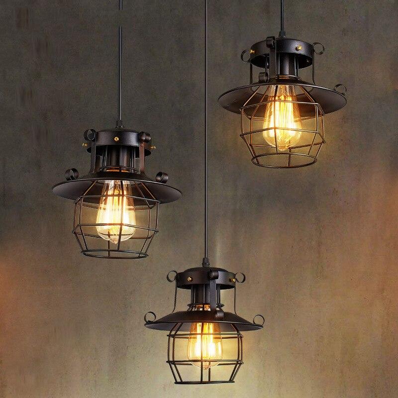 Led Lights Loft Retro Industrial Style Bar Restaurant Pendant Lights Coffee Shop Lighting Creative Iron Lamp Pendant Lights Aliexpress