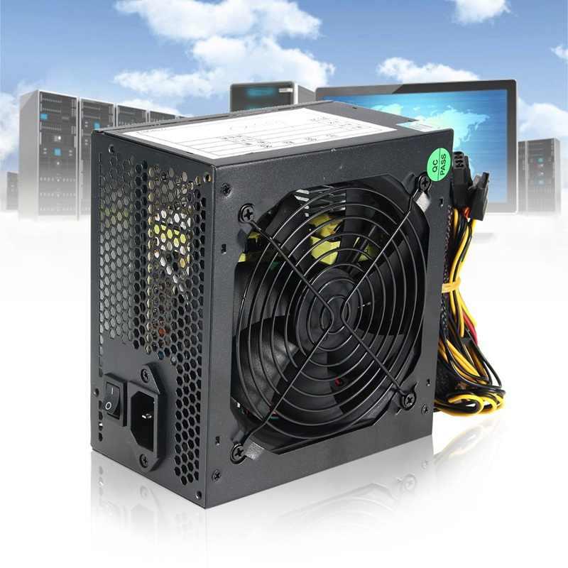 최대 450W 전원 공급 장치 PSU PFC 자동 팬 ATX 24 핀 12V PC 컴퓨터 SATA 게임용 PC 전원 공급 장치 (Intel AMD 컴퓨터 용) 검정
