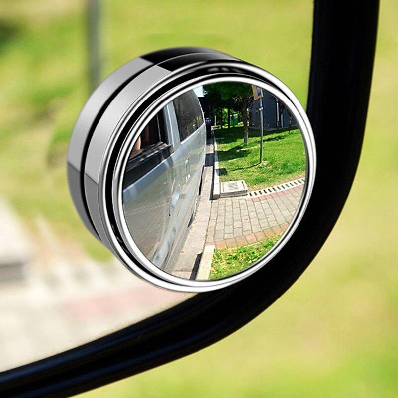 1 sztuk 2 sztuk samochodów 360 stopni Blind Spot lustro szerokokątny okrągłe wypukłe lustro małe zaokrąglona strona Blindspot lusterko wsteczne lusterko do parkowania