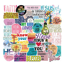 10 Sets 50Pcs Jesus Christians Famous Sayings Classic Stickers for Car Styling Motorcycle Laptop Luggage Bags Accessorie Sticker